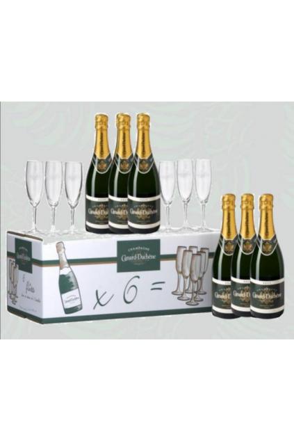 Set 6x Champagne Cuvée Leonie + 6x sklenička