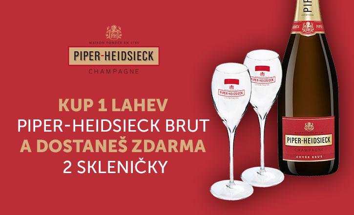 Piper + dvě skleničky