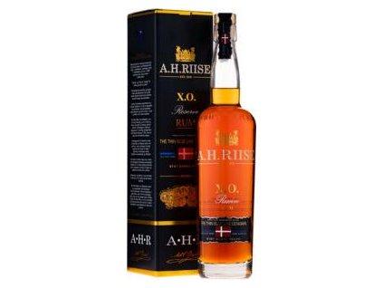 A.H. RIISE XO Thin Blue Label 0,7l 40% (0,7l) v dárkové krabičce