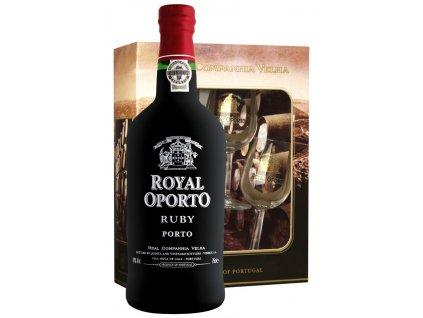 Royal Oporto Ruby (0,75l) v dárkovém balení se skleničkami