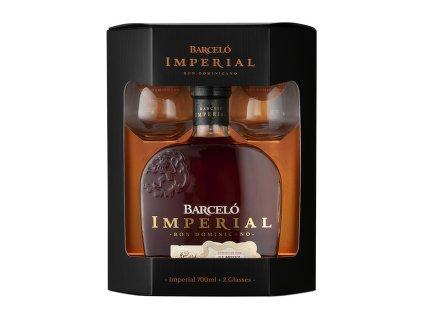 Ron Barceló Imperial (0,7l) v dárkové krabičce se skleničkami