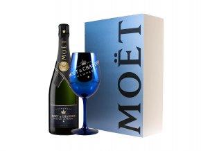 Moët & Chandon Imperial Brut Nectar (0,75l) v dárkové krabičce s modrou skleničkou