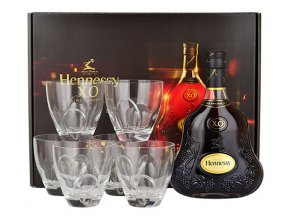 hennessy xo70cl with 6 thomas bastide glasses gift set big