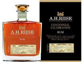 AH Riise Centennial Rum BOX FLASKE big