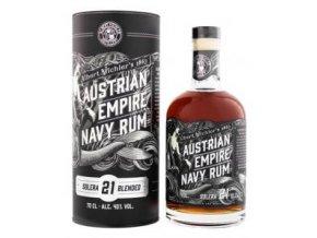 Rum Austrian Empire 21YO 40% (0,7l) v dárkové tubě