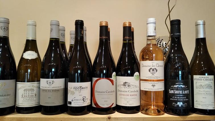 vína jižní francie ve Vinotéce ve dvoře
