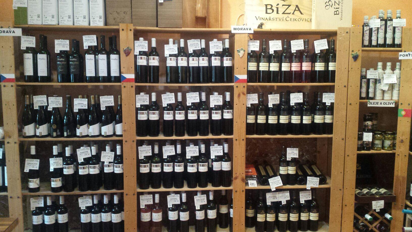 moravská vína v obchodě nebo v e-shopu
