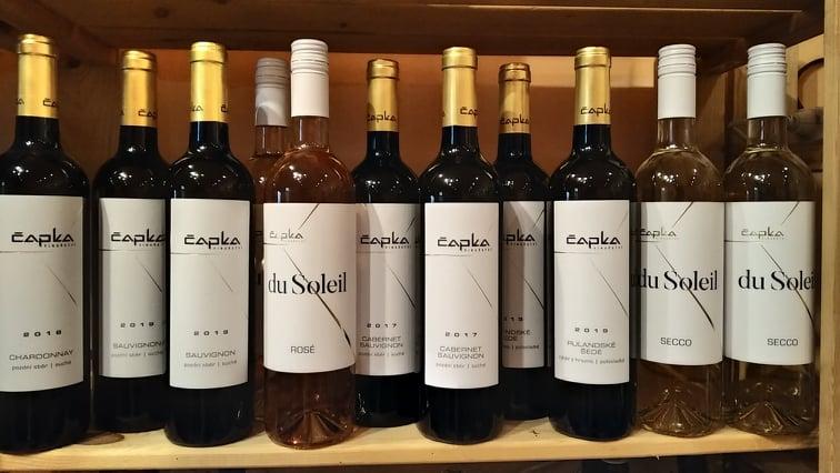vína Čapka ve Vinotéce ve dvoře