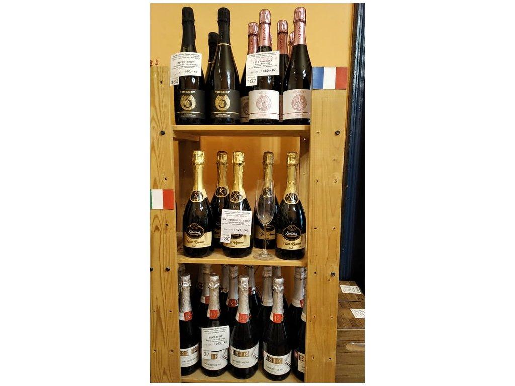 1 2 3 Sekt Rosé vinařství Bíza Vinotéka ve dvoře