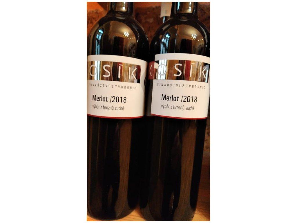Merlot vinařství Kosík Vinotéka ve dvoře