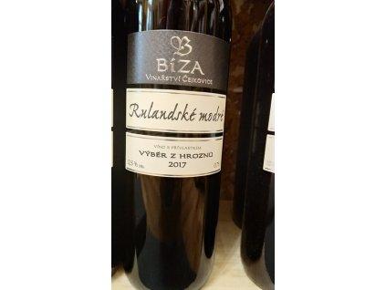 Rulandské modré vinařství Bíza Vinotéka ve dvoře