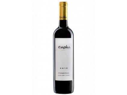 Frankovka pozdní sběr vinařství Čapka Vinotéka ve dvoře