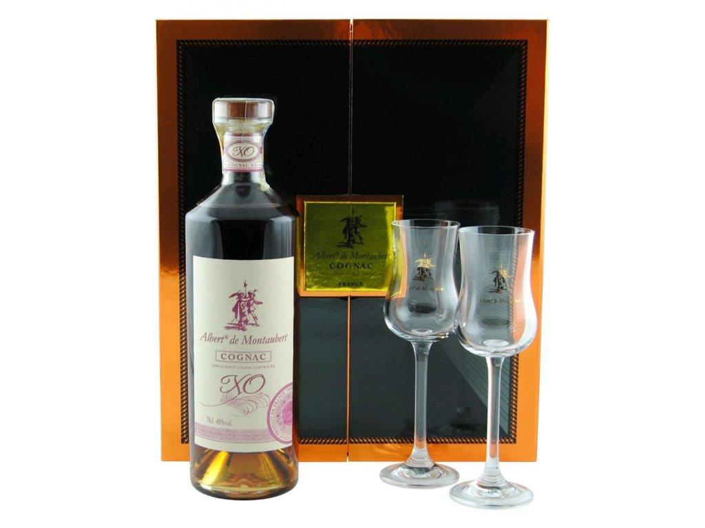 Albert de Montaubert Cognac XO + glasses 0,7l