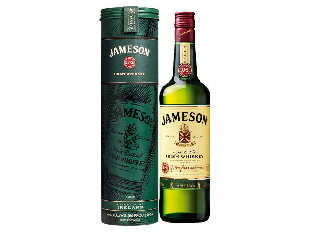 Jameson 0,7l 40% vol. Plech. Tuba Kulatá