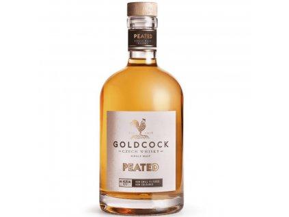 gold cock peated single malt whisky 0 7 l 49 2