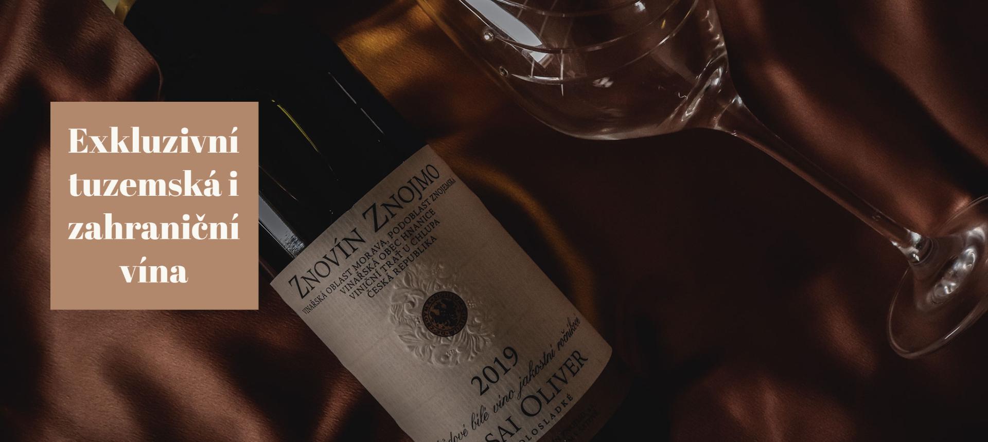 Exkluzivní tuzemská i zahraniční vína