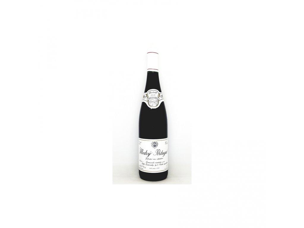 Žernosecké vinařství Modrý Portugal jakostní víno 2018