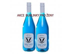 2 láhve velvet akce bublinky pro ženy