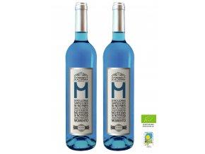 2 lahve vino azul VÁNOCE