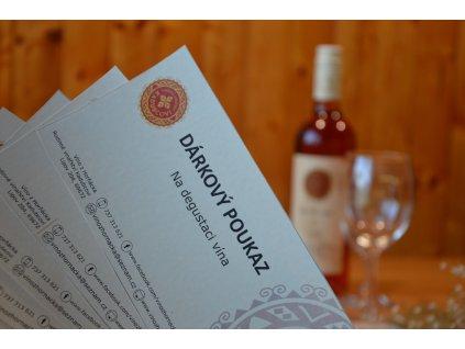 Dárkový poukaz na degustaci vína