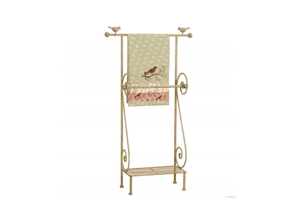 Věšák na ručník - dekor ptáček-55*18*97 cm