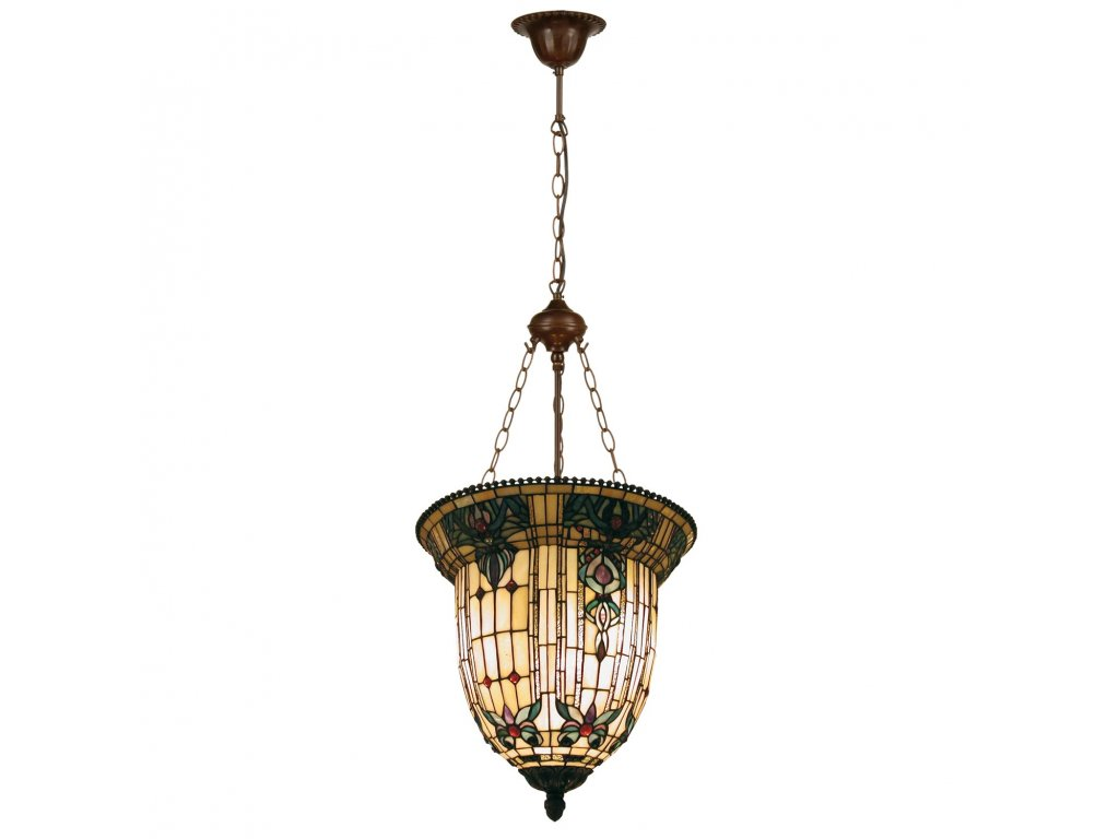 Závěsné svítidlo Tiffany - Ø 41*126 cm 3x E27 / max 60W