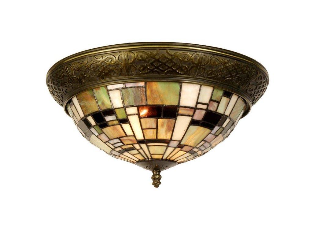 Stropní  svítidlo Tiffany -  pr 38 * 19 cm 2 x E14 max. 40w