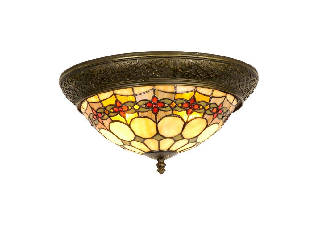 Stropní lampa Tiffany  pr 38 * 19 cm 2 x E14 max. 40w