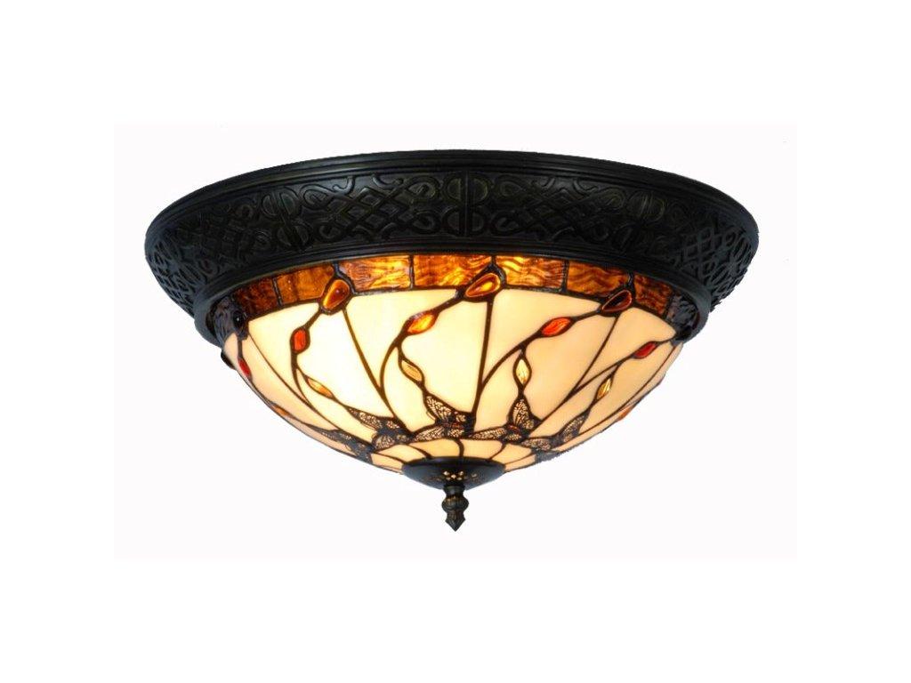 Stropní lampa Tiffany -  pr 38 * 19 cm 2 x E14 max. 40w