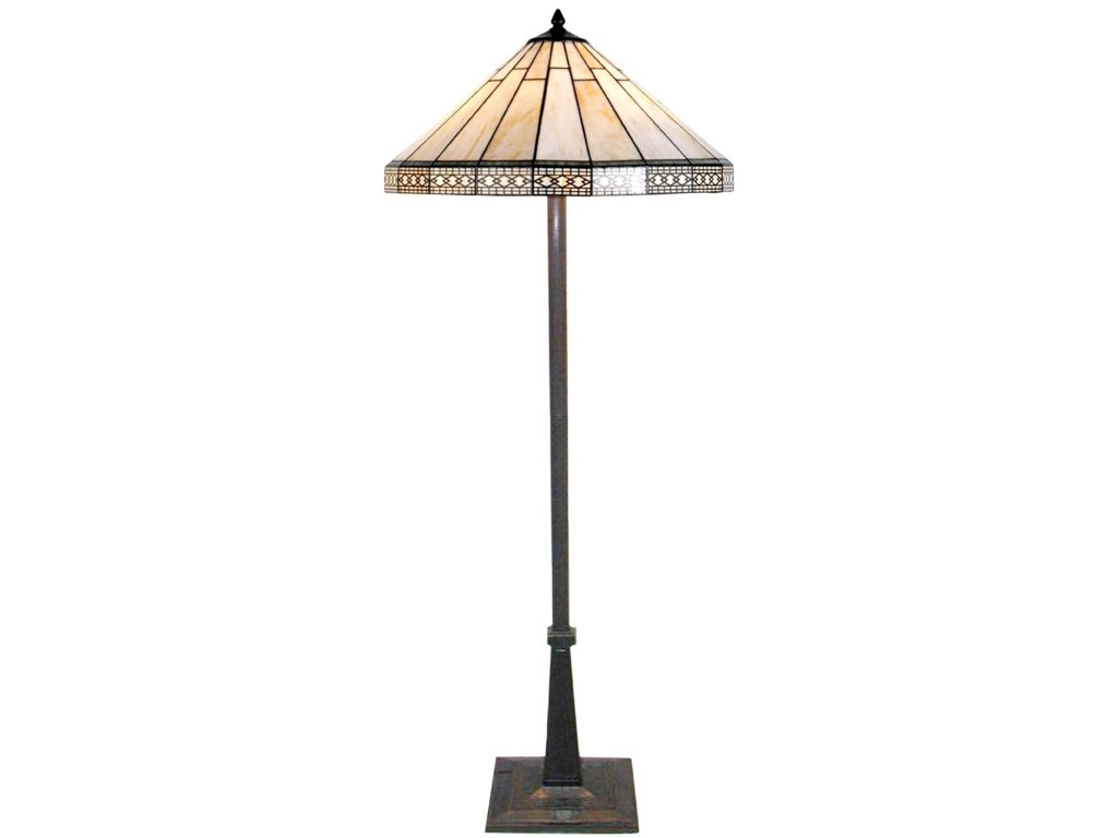 Stojací  lampa Tiffany - Ø 50*164 cm 2x E27 / Max 60W