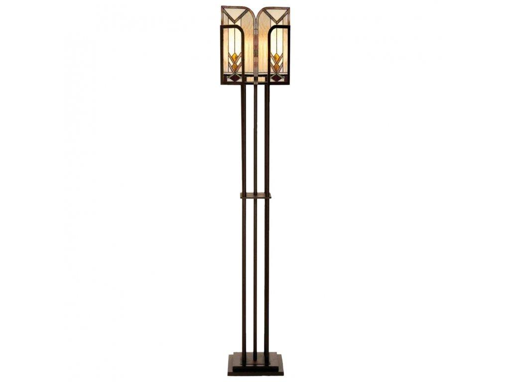Stojací  lampa Tiffany - 182 * 35 cm 1x E27 max 60w