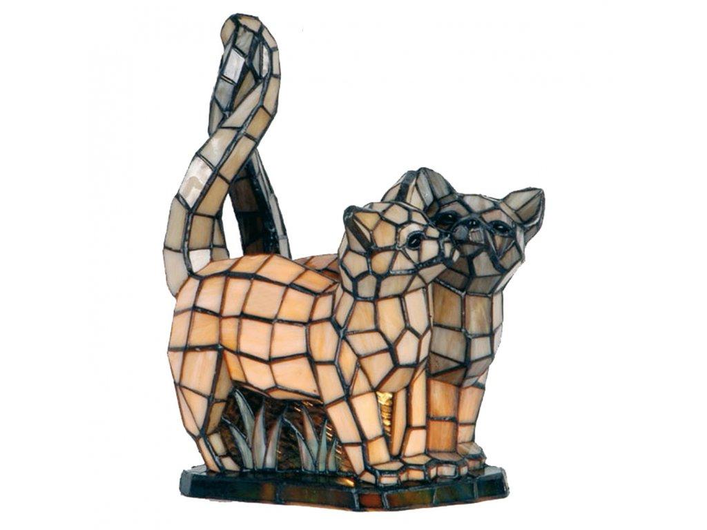Dekorativní lampa Tiffany kočky - 36*28 cm 1x E14 / max 40w