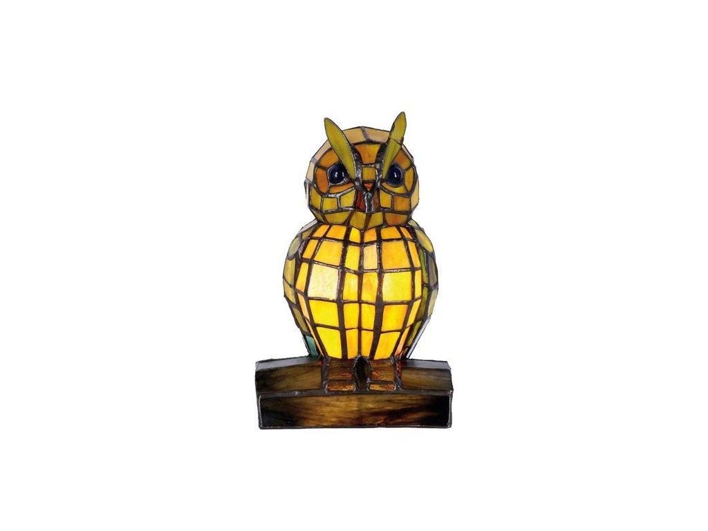 Dekorativní lampa Tiffany sova - 15*12*22 cm 1x E14 / Max 40W