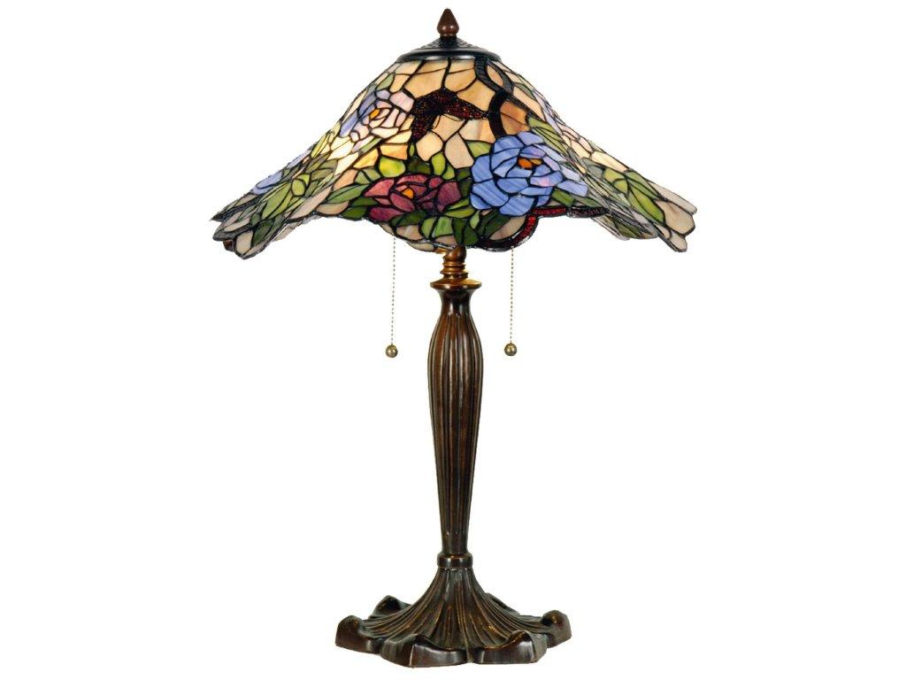 Stolní lampa Tiffany Flower - Ø 46*60 cm 2x E27 / max 60w