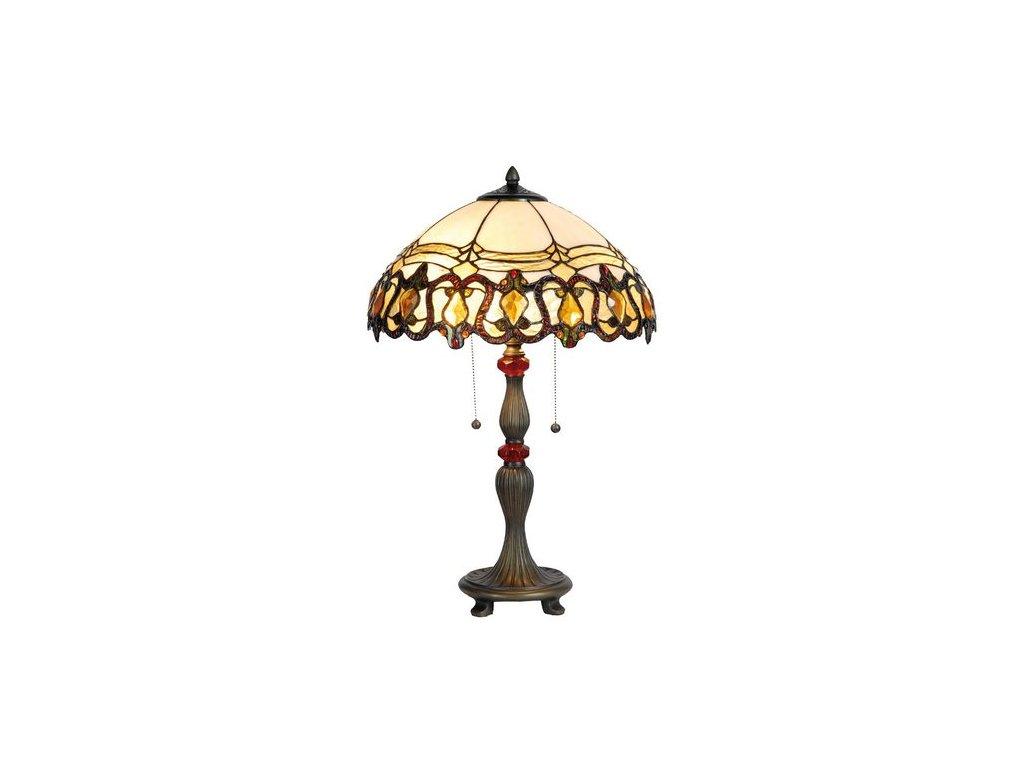 Stolní lampa  Tiffany  - pr 60*39 cm 2x E27 max 60w