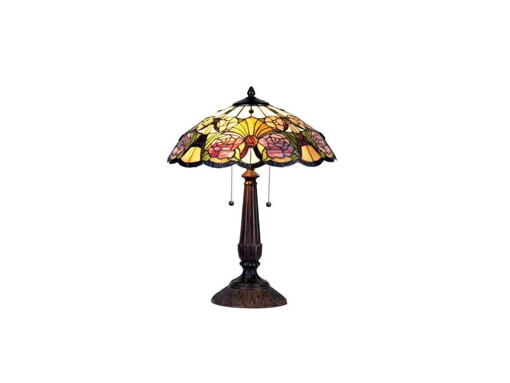 Stolní lampa Tiffany - pr.44*57 cm 2x E27 / Max 60W