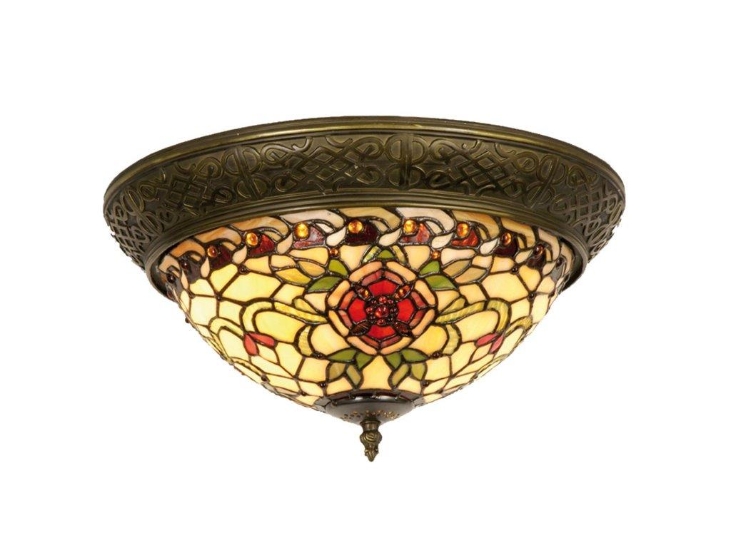 Stropní svítidlo Tiffany - Ø 38*19 cm 2x E14 / Max 40W