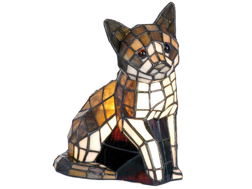 Dekorativní lampa Tiffany kočka - 21*11*25 cm E14/max 1*40W