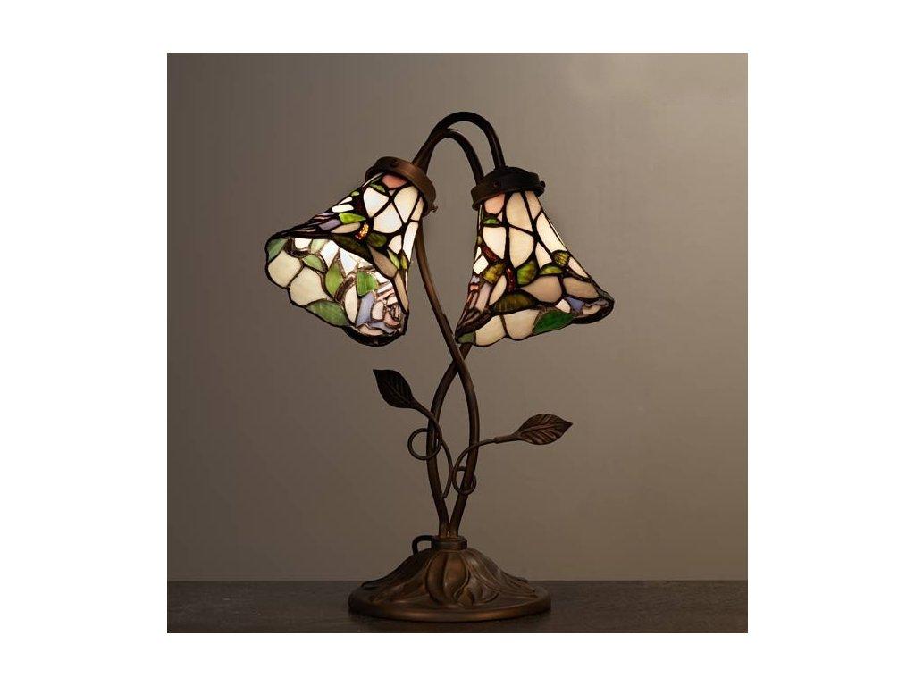 Stolní lampa Tiffany - 34*28*47 cm 2x E14 / Max 40W