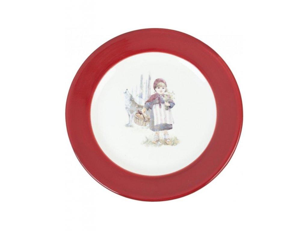Teller Rotkaeppchen mit Wolf R 21 cm