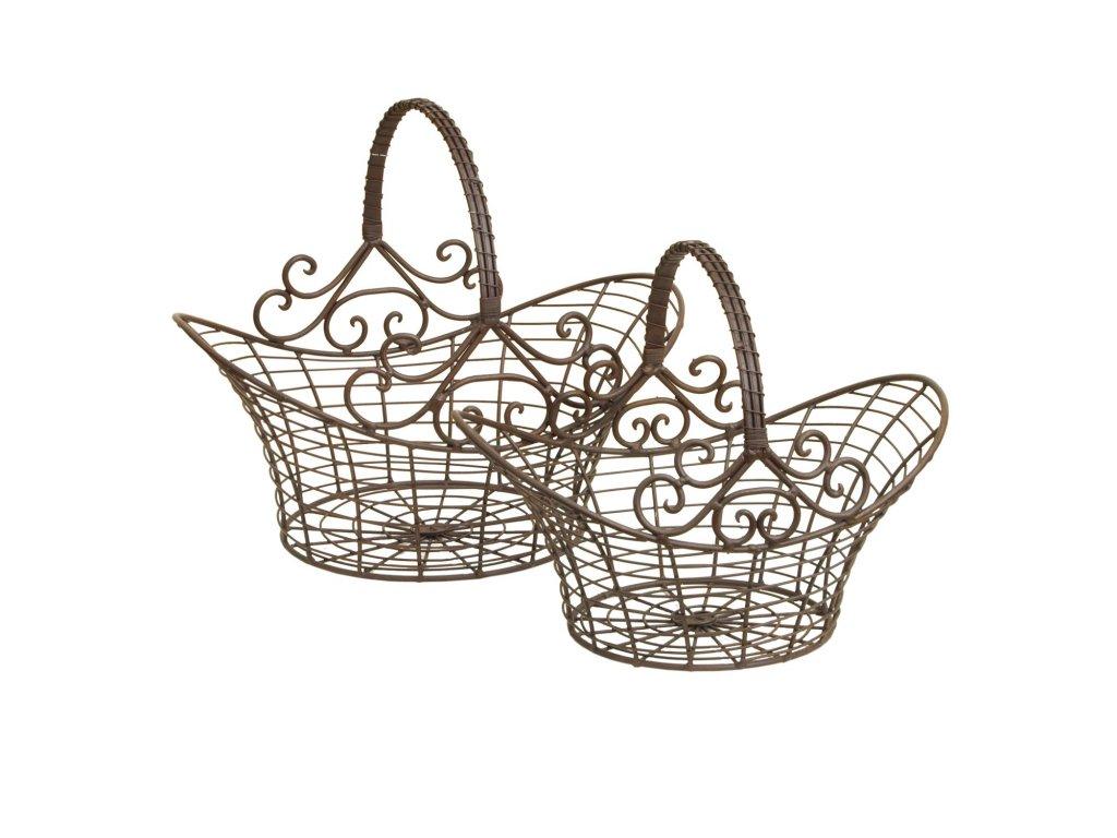 Sada drátěných košíků -  41*31*35 / 36*24*28 cm