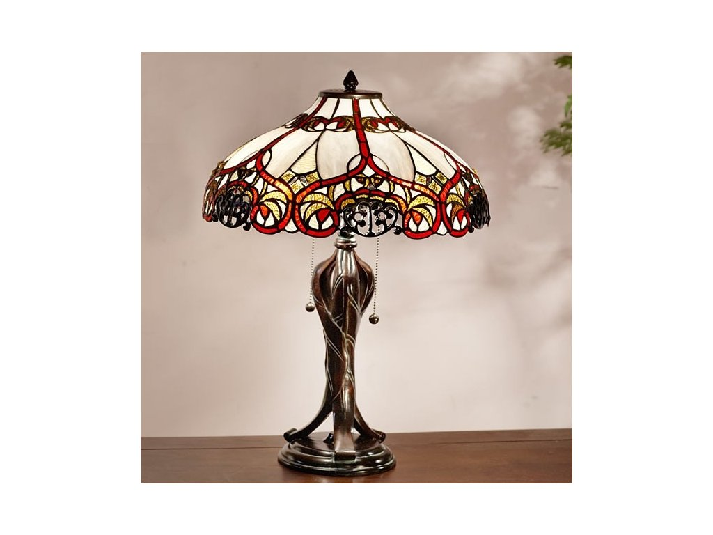 Stolní lampa Tiffany - Ø 41*56 cm E27/max 2*60W
