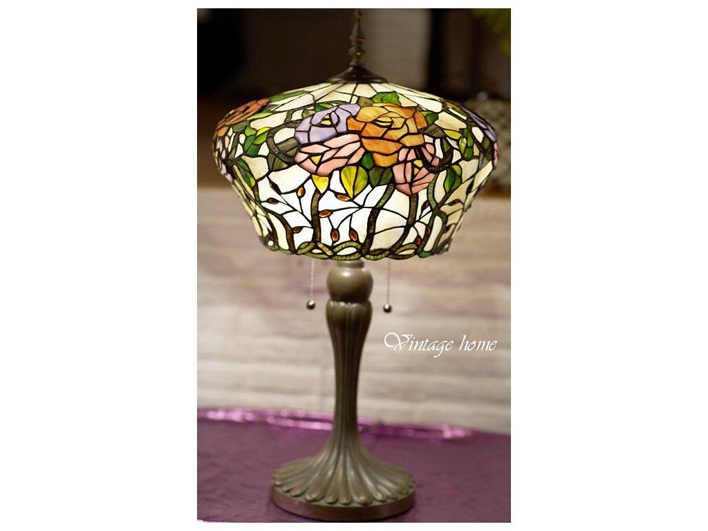 Stolní lampa Tiffany- Ø 40*72 cm E27/max 2*60W