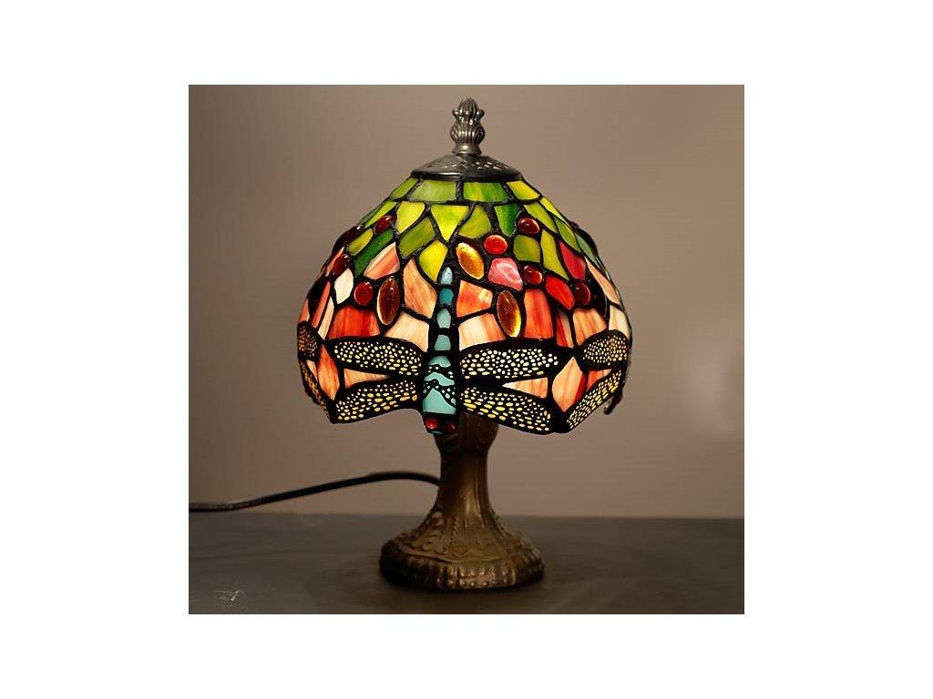 Stolní lampa Tiffany Gonos - Ø 16*25 cm E14/max 1*25W
