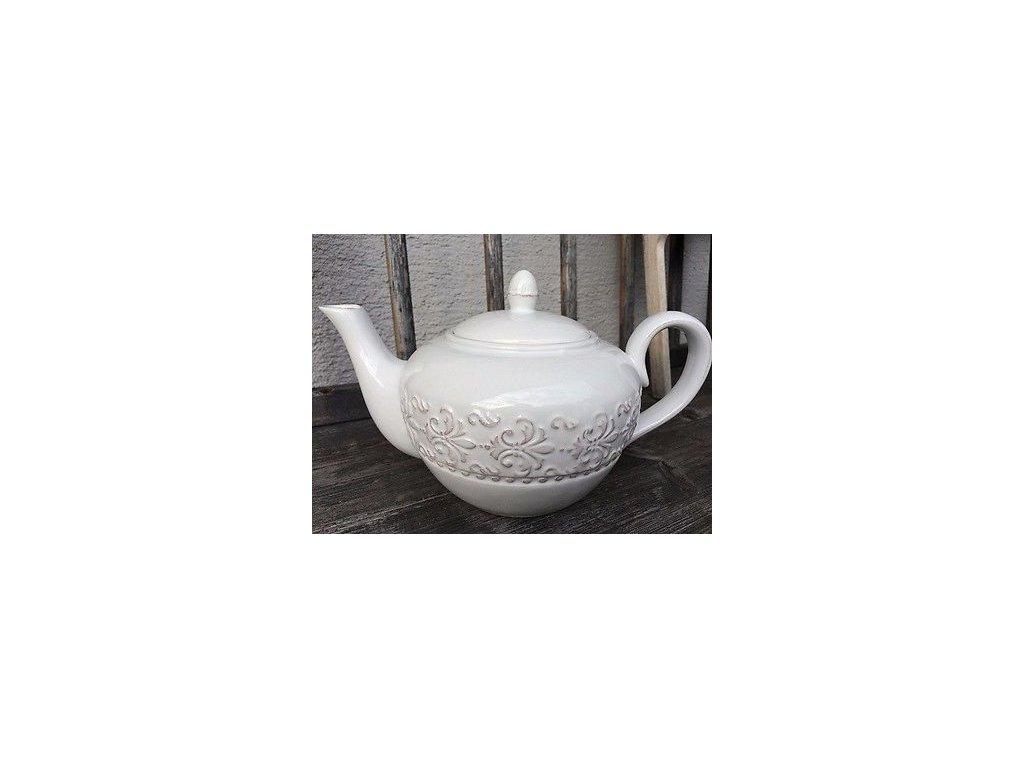 Clayre Eef Teekanne Kaffeekanne Kanne Relief 09l