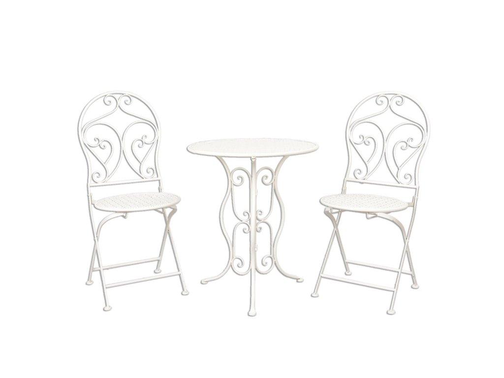 Zahradní stolek+ 2 židle - Ø 60*70 / 2x Ø 40*40*92 cm
