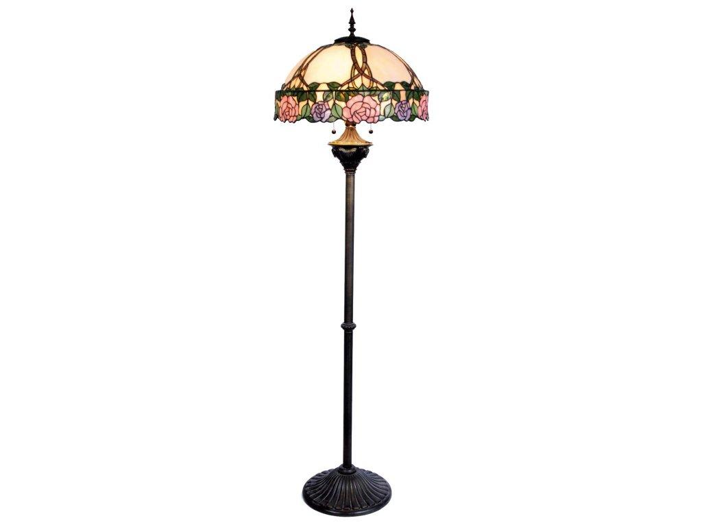 Stojací lampa Tiffany-pr.50*164 cm 3x E27 / Max 60W