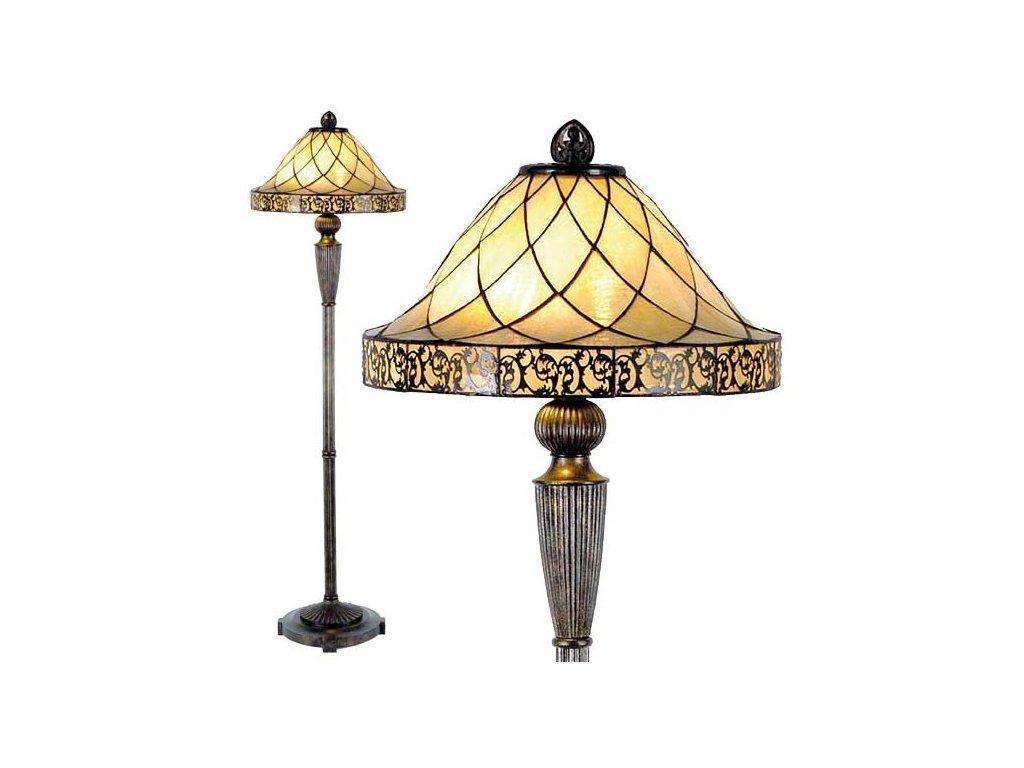 Stojací lampa Tiffany- Ø 46*168 cm 2x E27 / Max 60W