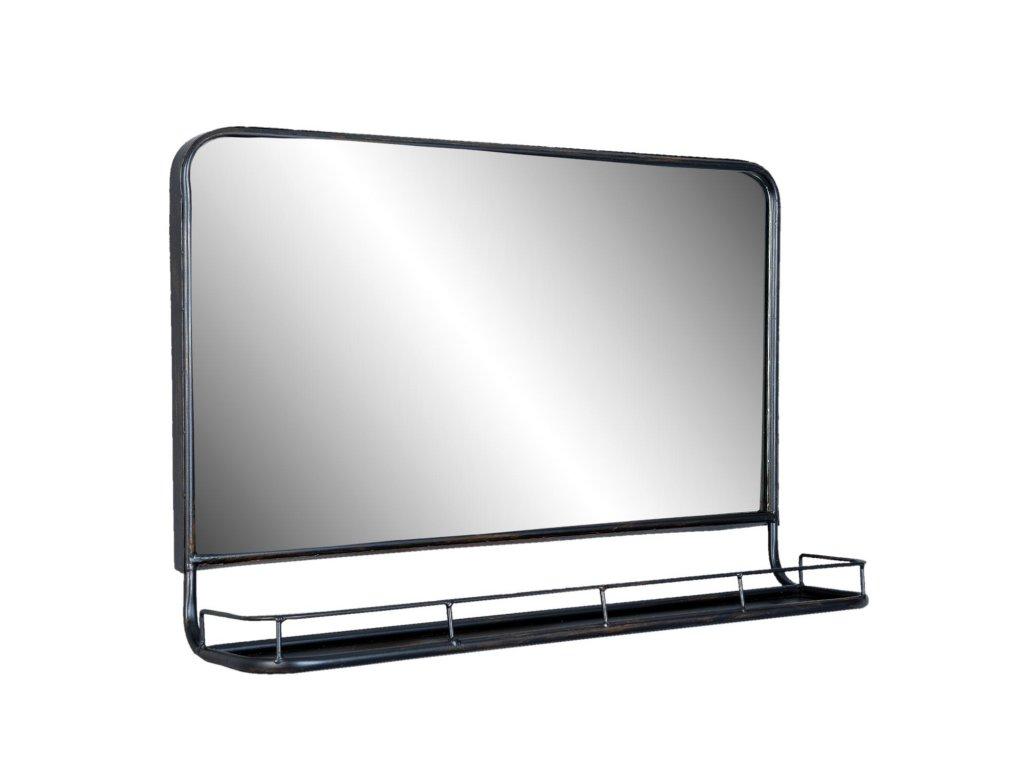 Zrcadlo s poličkou -60*15*40 cm