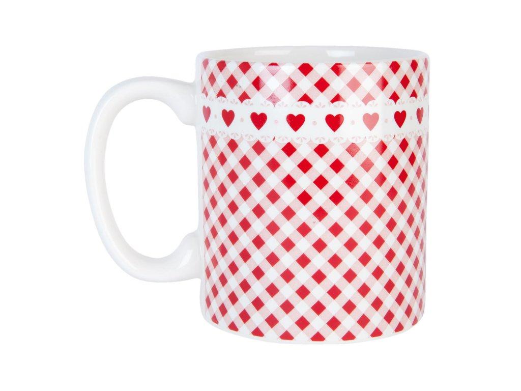 Hrnek Dots & hearts -13*9*10 cm / 0.450L